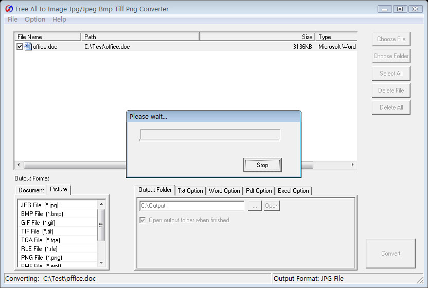 Free All to Image Jpg Bmp Converter 5.4 Screen shot