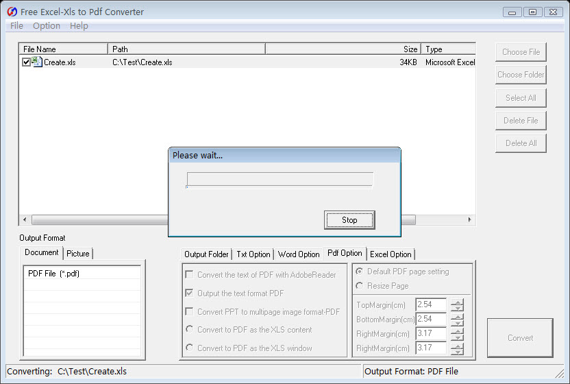 Free Excel/Xls to Pdf Converter 5.4 full